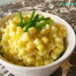Slow Cooker Creamy Corn with Chives and Shallots