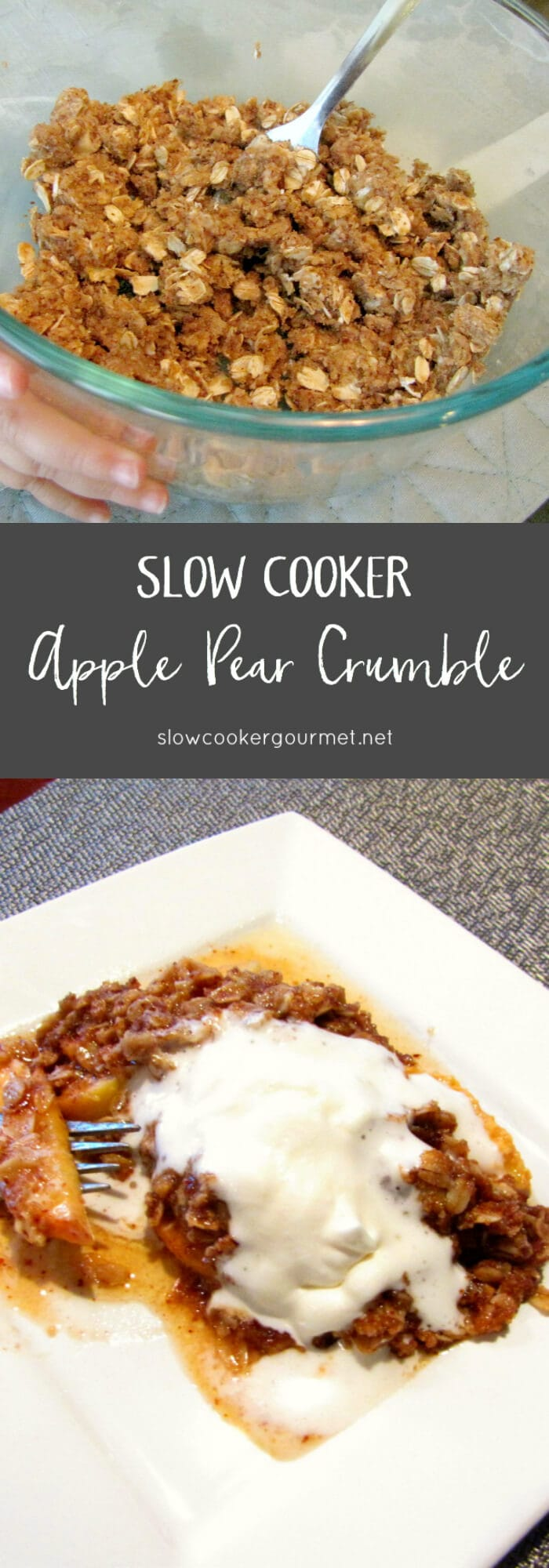 slow cooker apple pear crumble - slow cooker gourmet