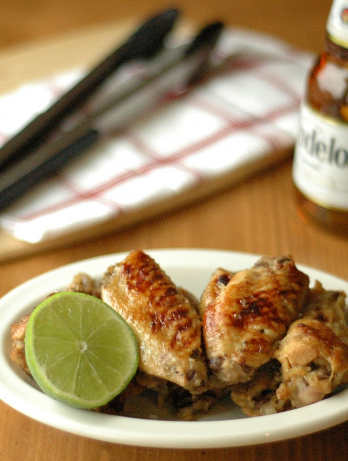 Slow Cooker Beer Glazed Honey Lime Chicken Wings