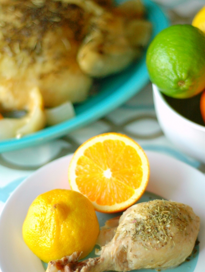 Slow Cooker Citrus Herb Roasted Chicken