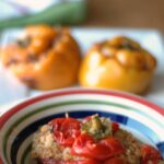 Slow Cooker Enchilada Stuffed Peppers