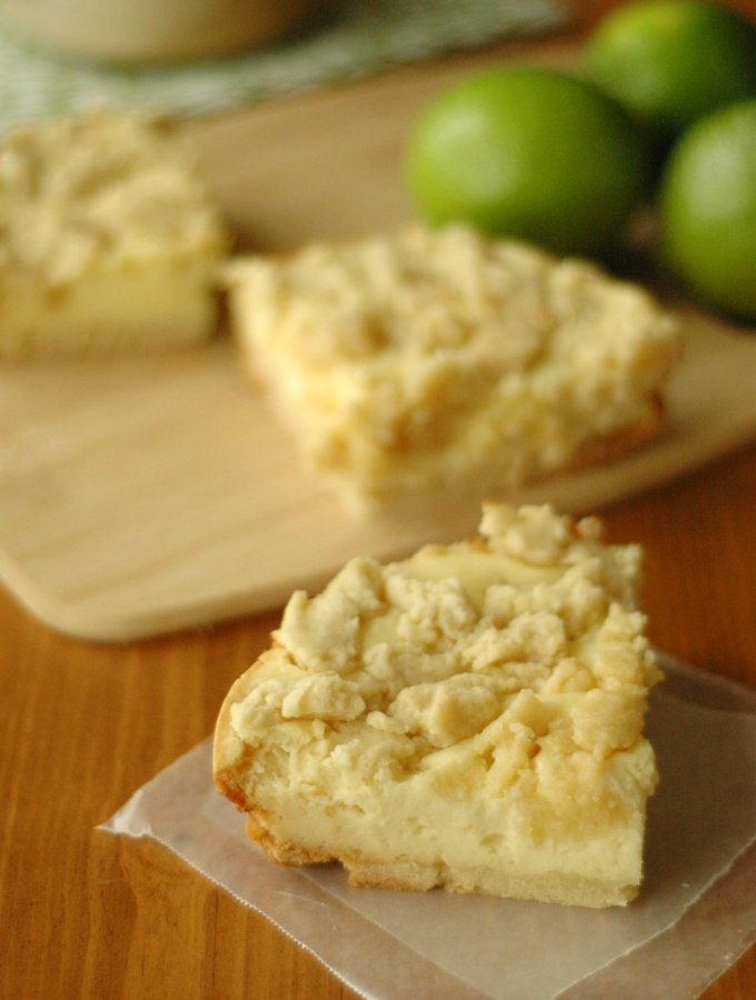 Slow Cooker Lime Twist Cheesecake Cookie Bars