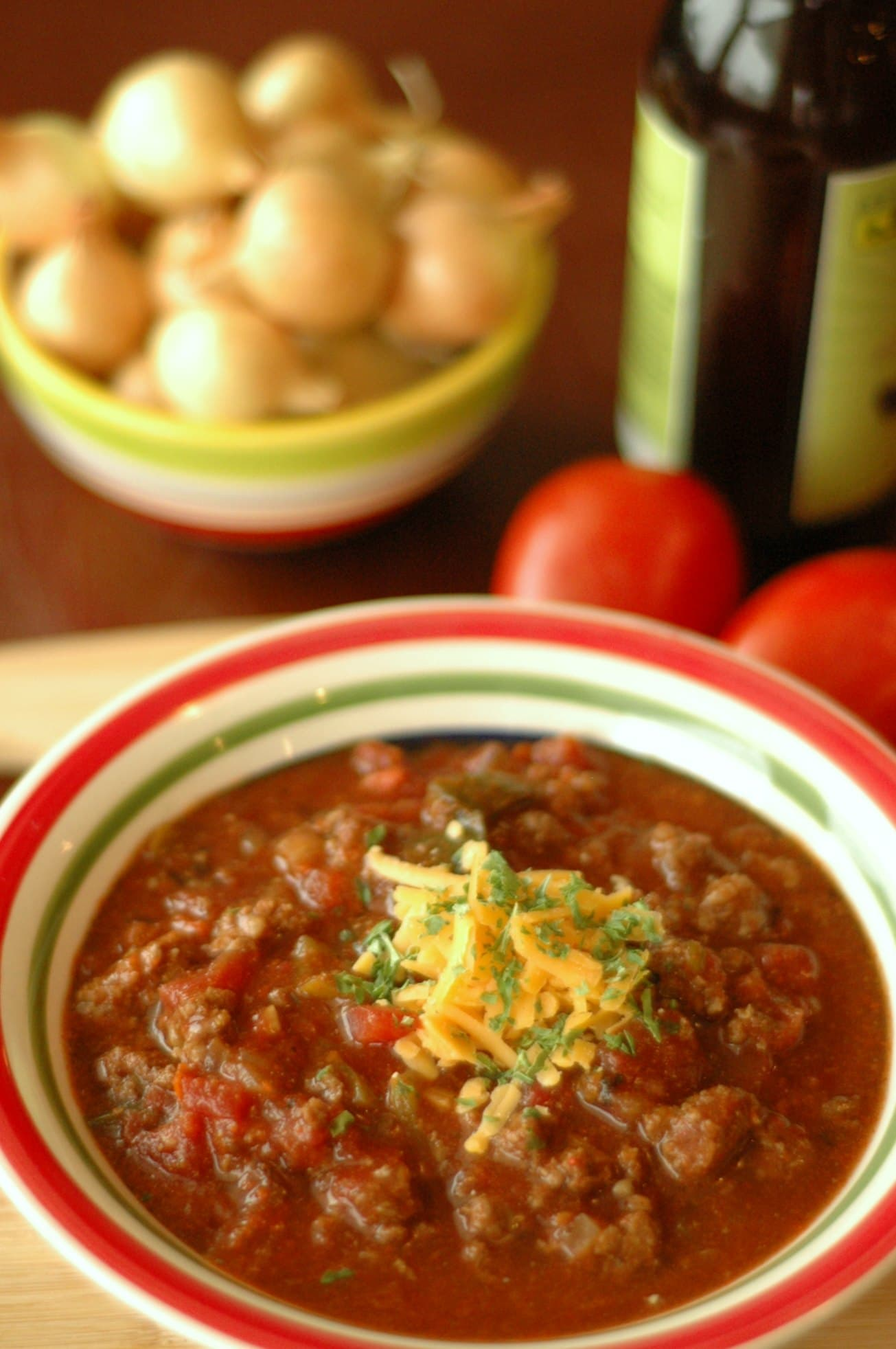Slow Cooker Bison and Poblano Chili