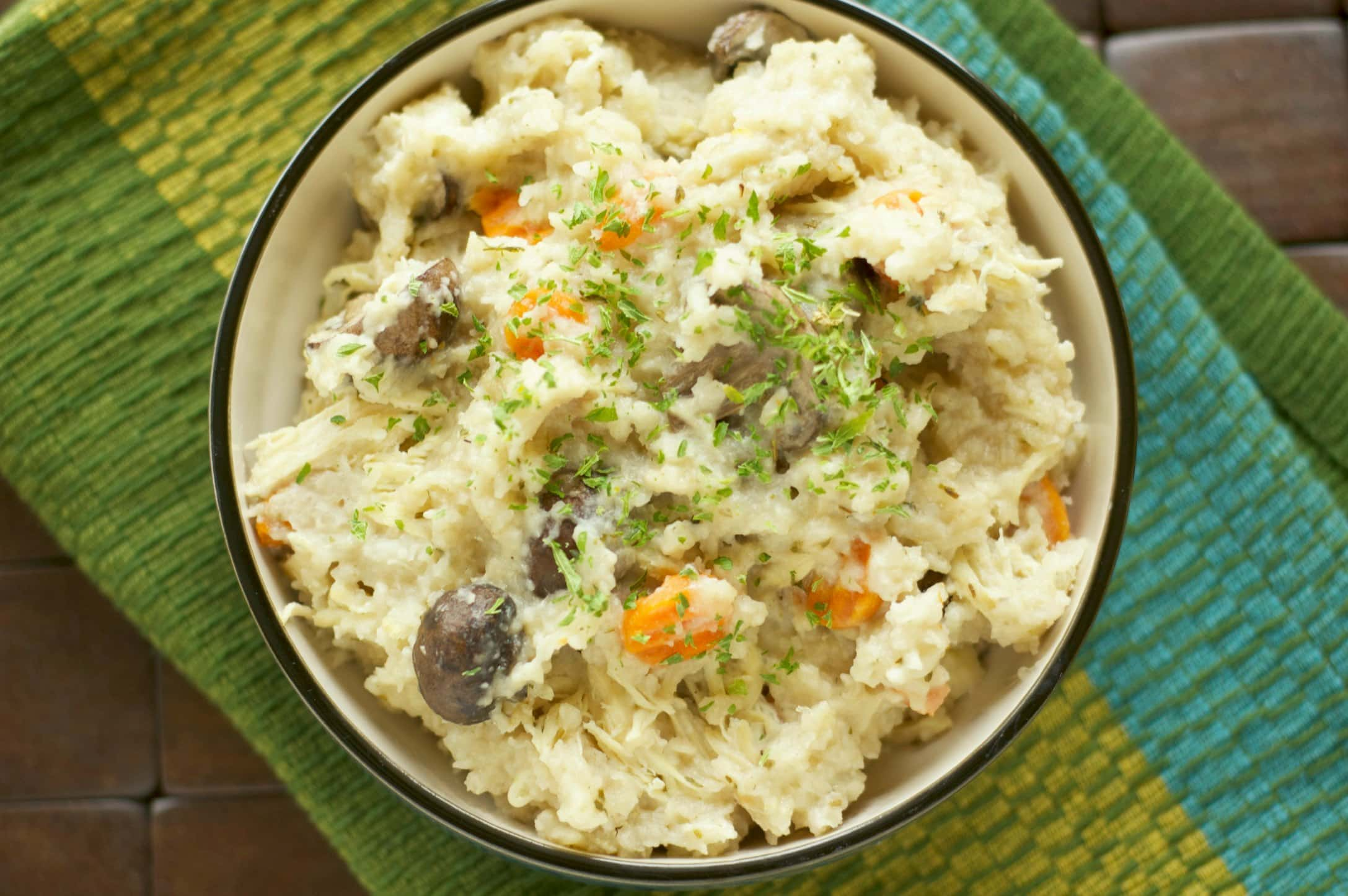 Slow Cooker Rosemary Chicken and Mushroom Risotto - Slow Cooker ...