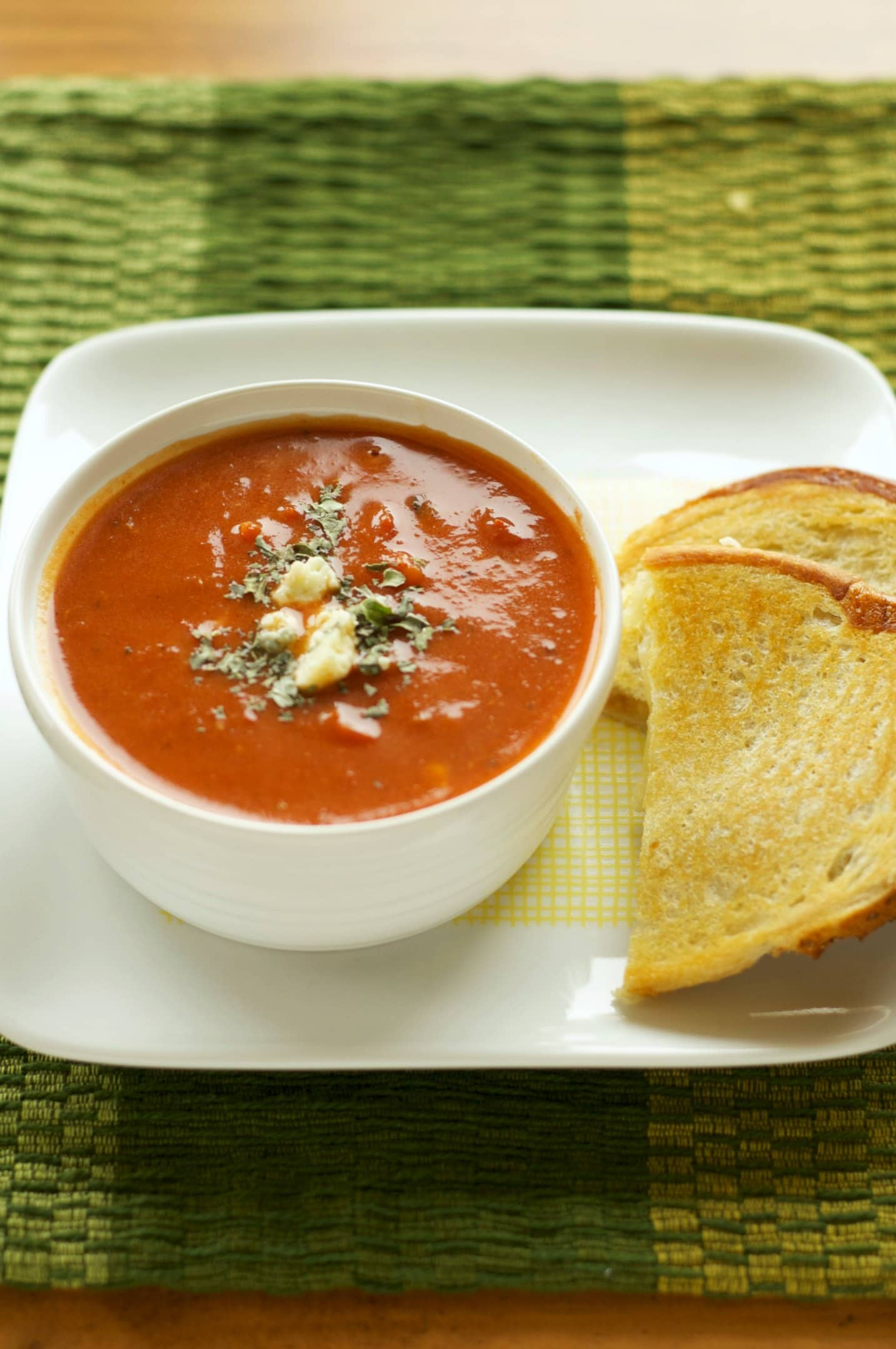 ... Fire Roasted Tomato and Creamy Gorgonzola Soup - Slow Cooker Gourmet
