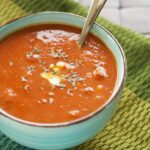 Slow Cooker Fire Roasted Tomato and Creamy Gorgonzola Soup