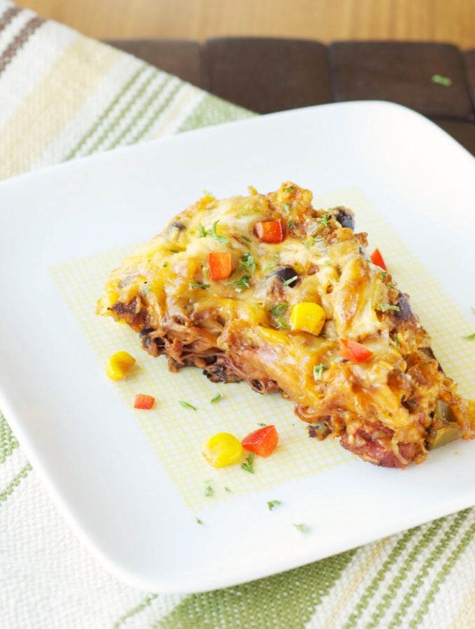 Slow Cooker Spicy Taco Casserole