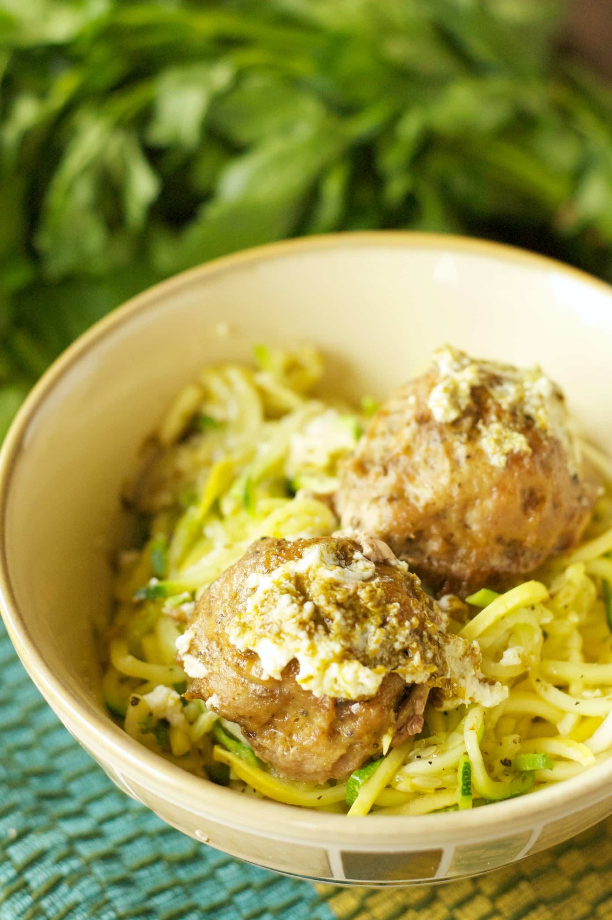 Slow Cooker Herbed Turkey Meatballs
