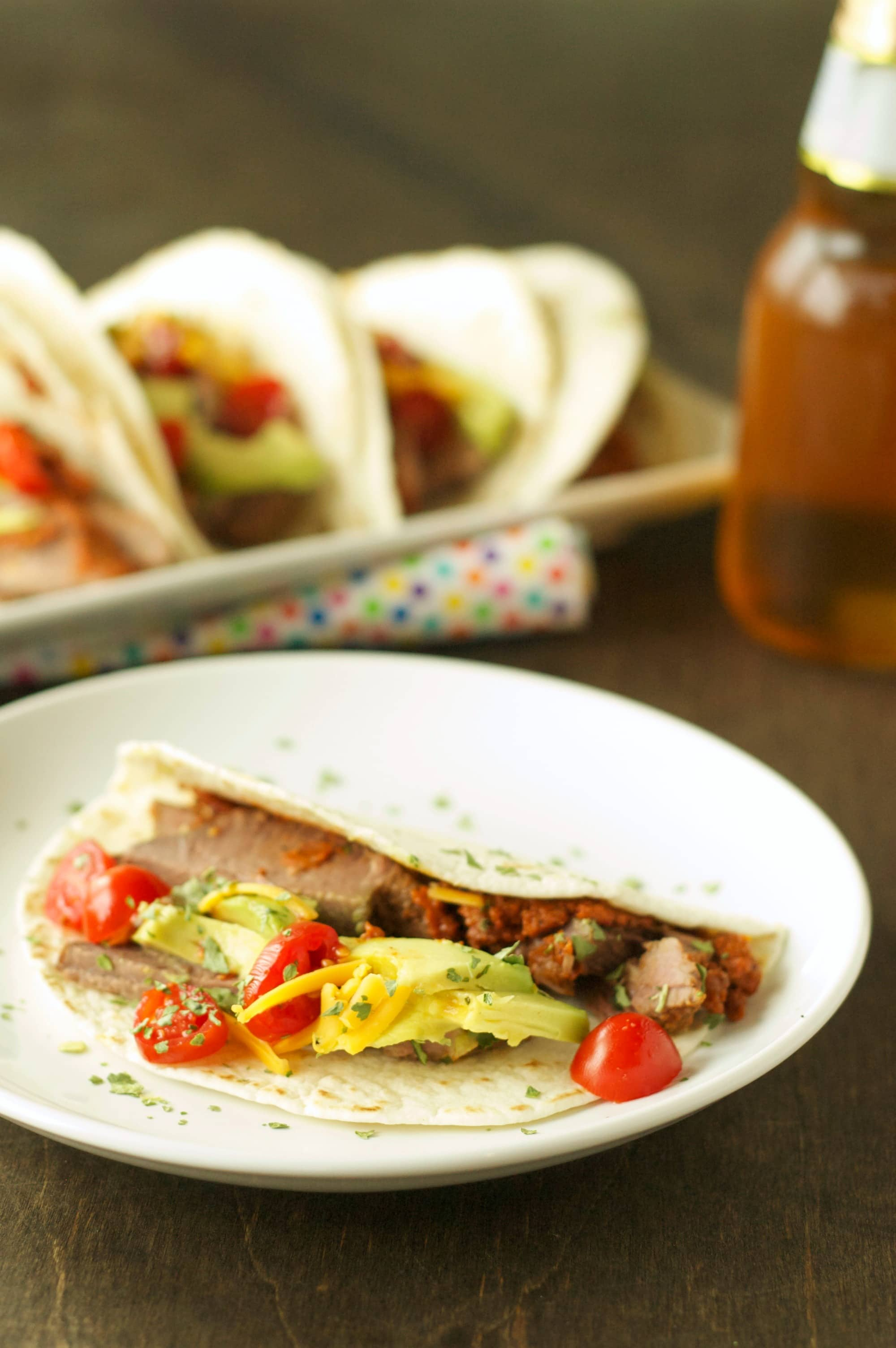 Slow Cooker Spicy Steak Tacos