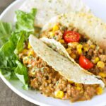 Slow Cooker Cheesy Beef Tacos