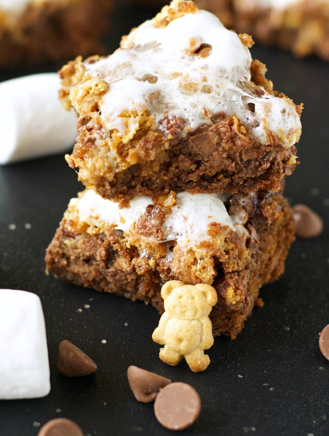 Slow Cooker S'mores Cookie Bars