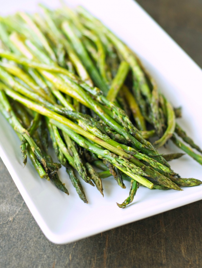 Super Simple Sides:  Lemon Pepper Roasted Asparagus