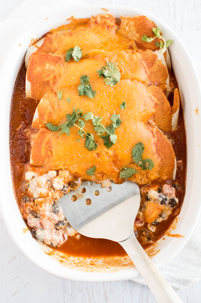 Corn and Black Bean Enchiladas