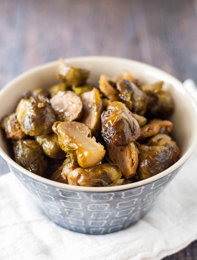 Slow Cooker Roasted Brussels Sprouts