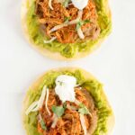 Slow Cooker Chicken Tinga Tostadas