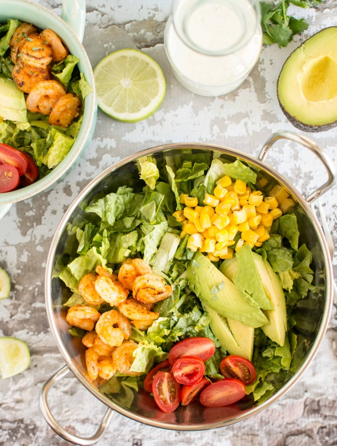 Quick Dinners:  Sriracha Shrimp Salad