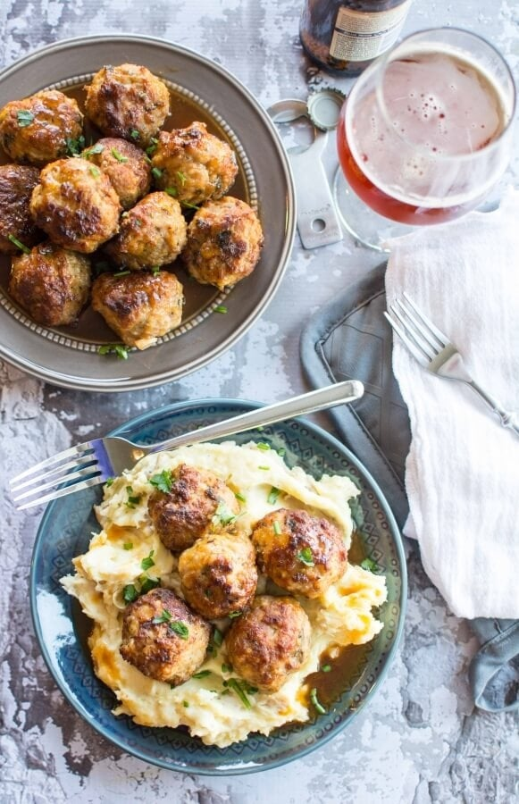 Slow Cooker Honey Glazed Pork Meatballs