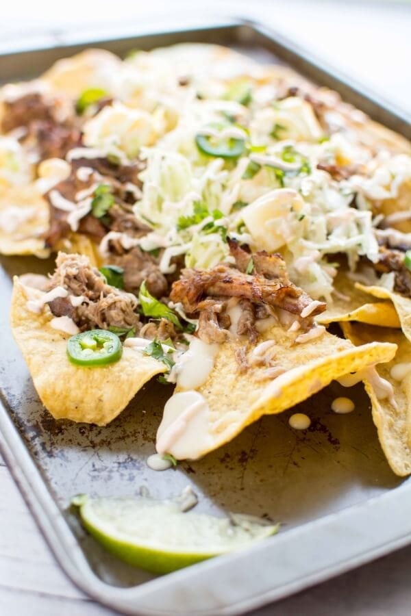 Slow Cooker Asian Chicken Nachos