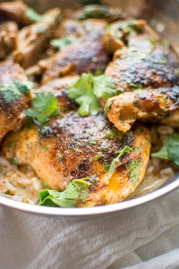 Slow Cooker Creamy Cilantro Lime Chicken