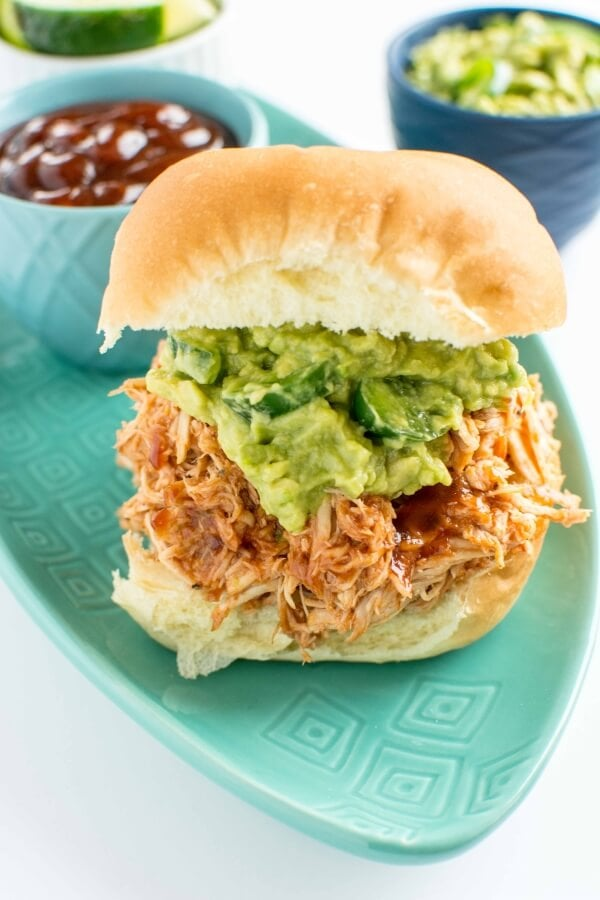 Slow Cooker Sweet and Spicy Pulled Chicken