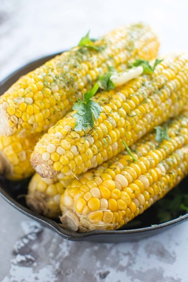 Slow Cooker Buttery Dill Corn on the Cob