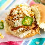 Slow Cooker Southwest Chicken Sandwiches