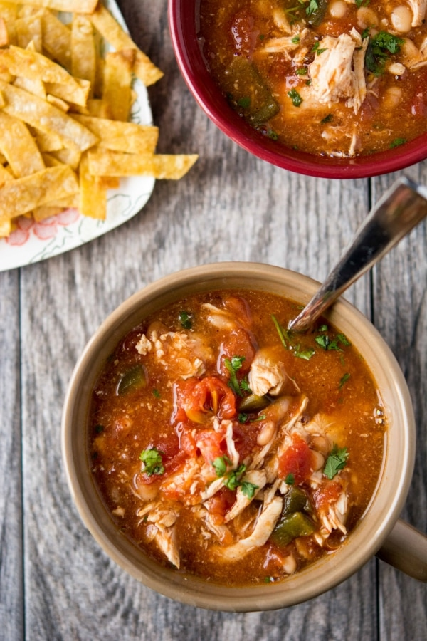 Slow Cooker Chicken Enchilada Chili-2