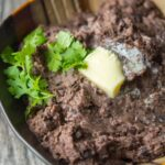 Slow Cooker Refried Black Beans with Roasted Garlic