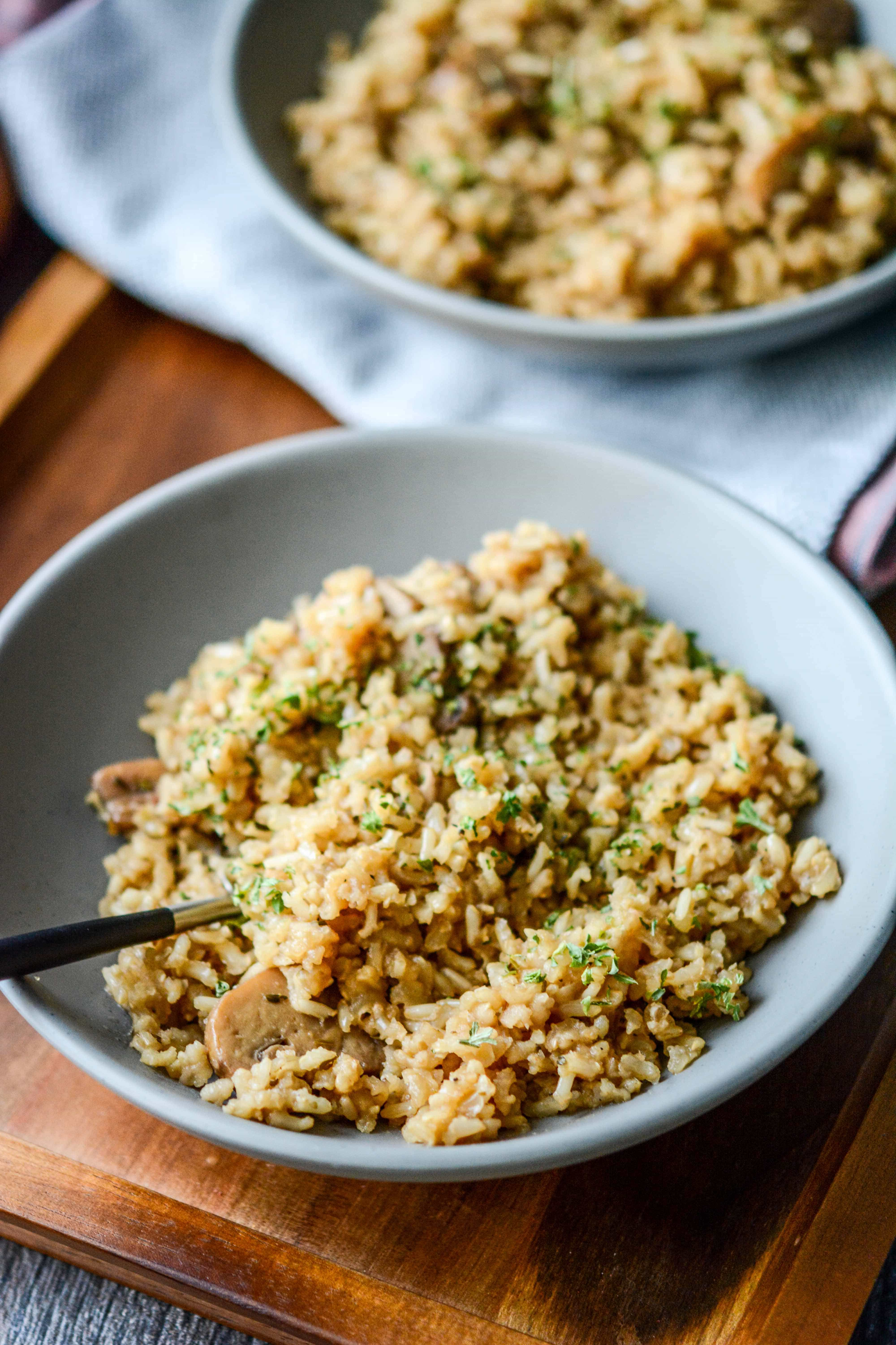 Slow Cooker Rustic Herbed Brown Rice Slow Cooker Gourmet