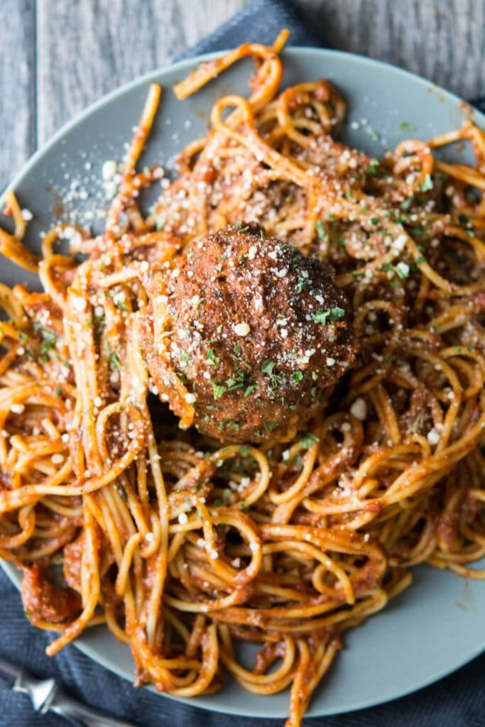 Slow Cooker Spaghetti and Meatballs-3