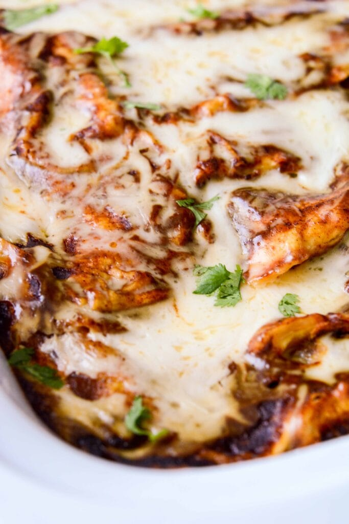 Slow Cooker Spinach and Mushroom Enchiladas