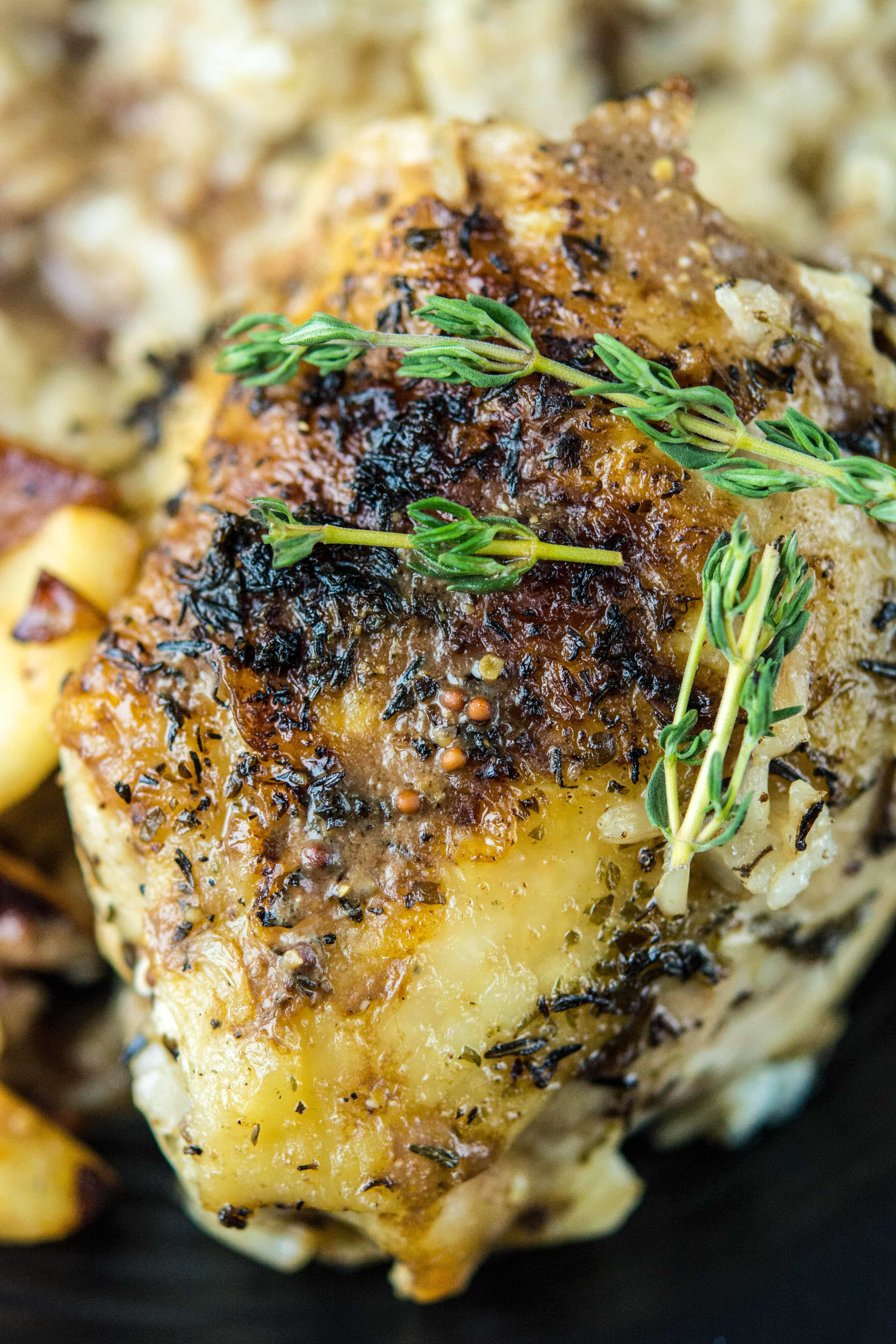 Slow Cooker Chicken with Caramelized Apples and Onions