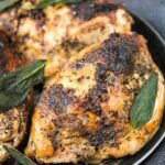 Slow Cooker Sage Butter Chicken with Lemon Pasta