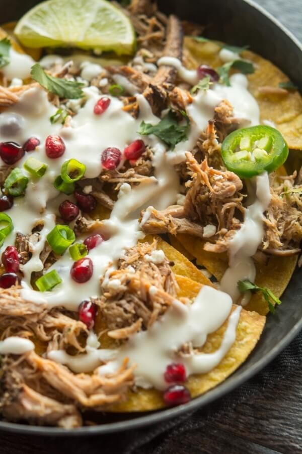 Slow Cooker Pulled Pork Nachos