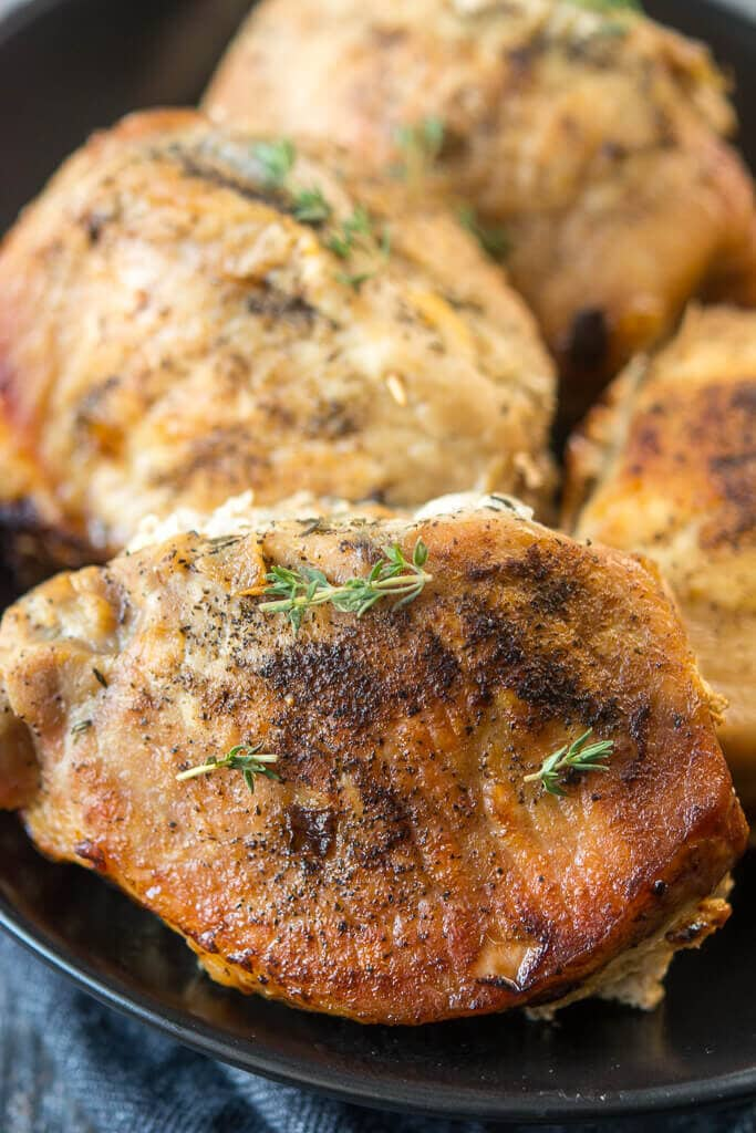 Slow Cooker Stuffed Pork Chops