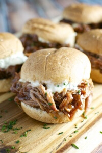 Barbecue Pork Sliders with Garlic Aioli