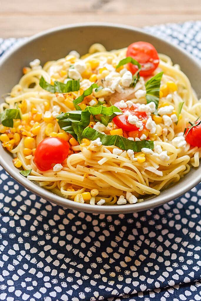 Slow Cooker Chicken Pasta with Corn and Goat Cheese - Slow Cooker ...