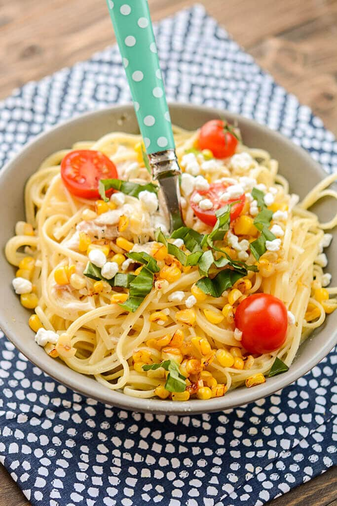 Slow Cooker Chicken Pasta with Corn and Goat Cheese - Slow ...