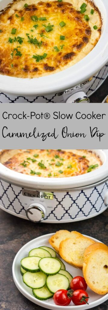 Crockpot Slow Cooker Caramelized Onion Dip