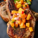 Slow Cooker Pork Chops with Peach Salsa