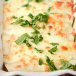 Slow Cooker Adobo Chicken Enchiladas