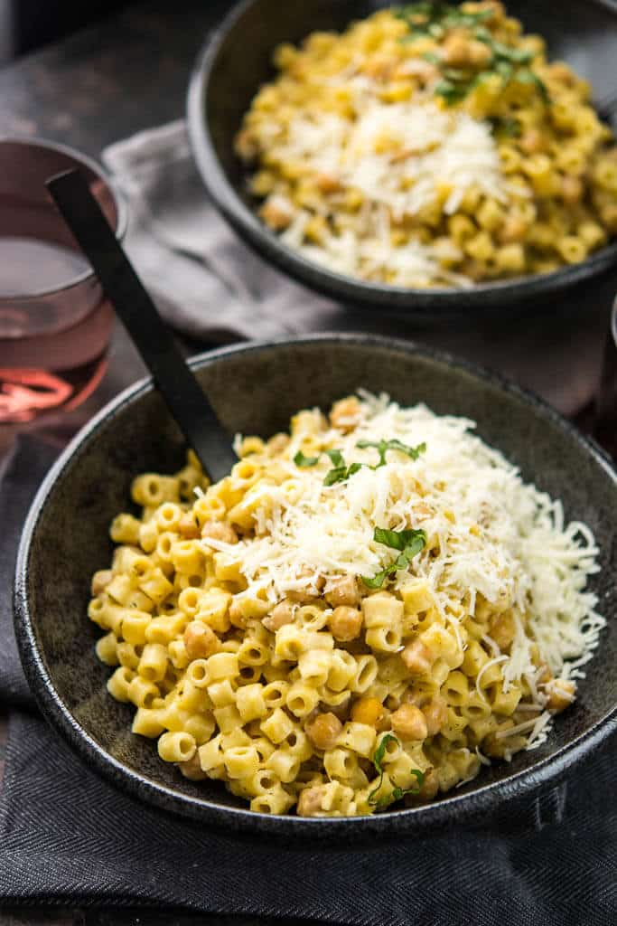 Slow Cooker Chickpea and Butternut Squash Pasta