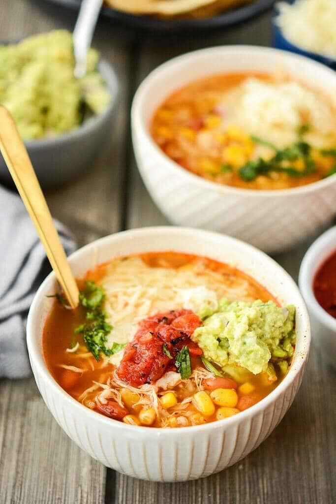 slow cooker chipotle chicken burrito bowl soup slow cooker green ...