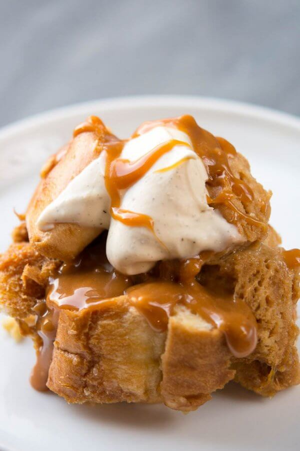 Slow Cooker Sweet Caramel French Toast Casserole