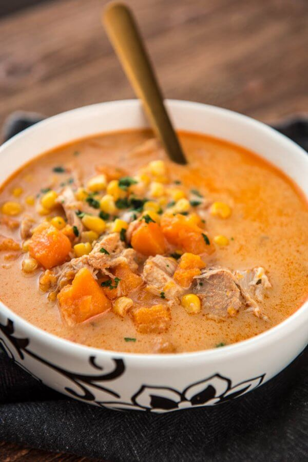 Slow Cooker Chicken and Sweet Potato Chowder