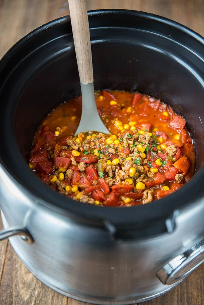 Slow Cooker Spicy Turkey Chili - Slow Cooker Gourmet