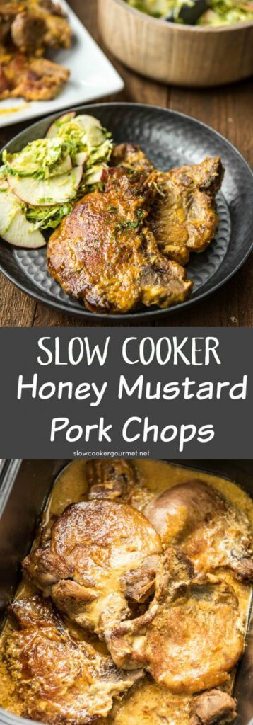 Slow Cooker Honey Mustard Pork Chops