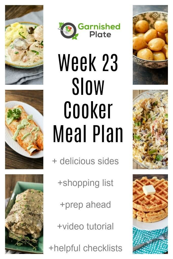 Week  Slow Cooker Meal Plan  Slow Cooker Gourmet