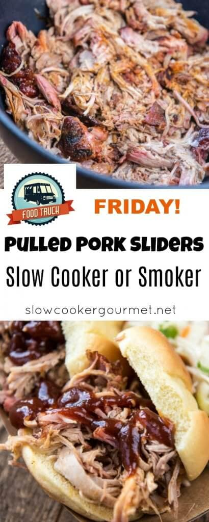 Pulled Pork Sliders that are delicious enough to go up against the best food truck fare! Use your slow cooker or your smoker to make the best pulled pork in town!