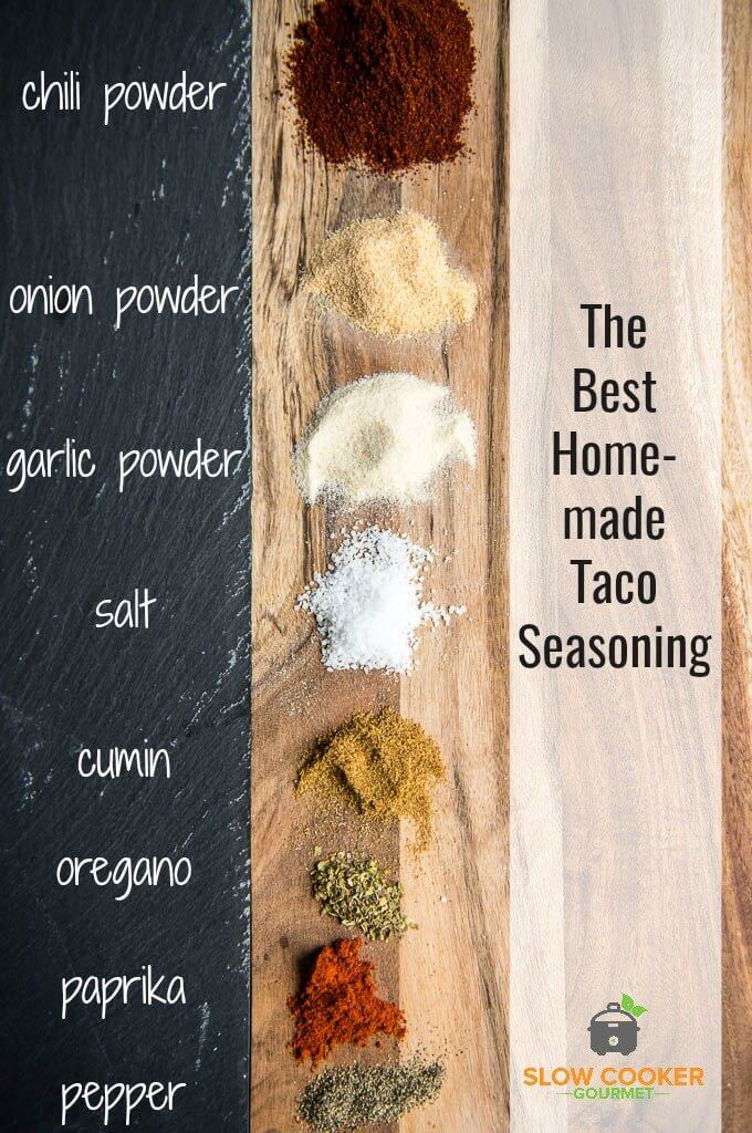 This is the BEST Homemade Taco Seasoning Recipe out there! The perfect blend of simple pantry spices so you can mix up a batch anytime! Never run out of taco seasoning again!